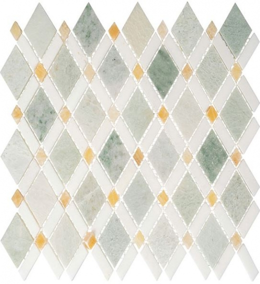 Glazzio Diamond Series Ming Green Light +Thassos White + Honey onyx DS58