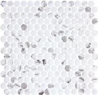 Carolina Dots Fashion Spec Gray Marble Look Penny Round Tile CAR2012