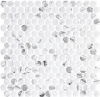 Carolina Dots Fashion Spec Gray Marble Look Penny Round Tile CAR2012
