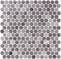 Carolina Dots Herrera Grafite Gray Penny Round Tile CAR2015
