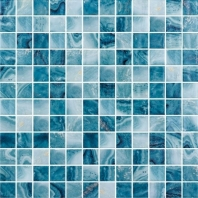 Del Spa Barrier Reef Blue 1x1 Tile DLS1102
