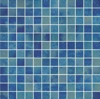 Del Spa Blue Cave Blue 1x1 Tile DLS1105