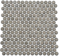 Greenwich Downtown Fervor Gray Penny Round Tile GR882