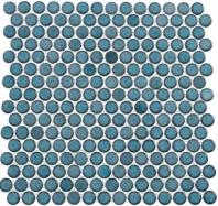 Greenwich Lafayette Blue Blue Penny Round Tile GR884