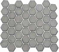 Greenwich Downtown Fervor Gray Hexagon Tile GR886