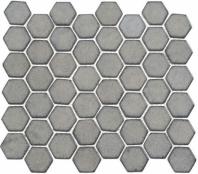 Greenwich Downtown Fervor Gray Hexagon Tile GR886