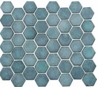 Greenwich Historic Grand Blue Hexagon Tile GR887