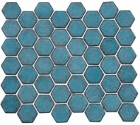 Greenwich Lafayette Blue Blue Hexagon Tile GR888