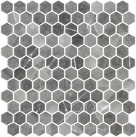 Karma Ridge Ashley Rock Black Marble Look Hexagon Tile KR1401