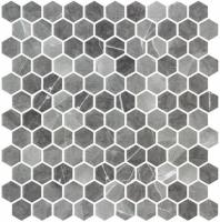 Karma Ridge Ashley Rock Black Marble Look Hexagon Tile KR1401
