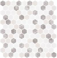 Karma Ridge Levan Trail White Stone Look Hexagon Tile KR1402