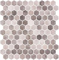 Karma Ridge Soothing Intent Brown Stone Look Hexagon Tile KR1403