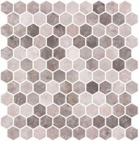 Karma Ridge Soothing Intent Brown Stone Look Hexagon Tile KR1403