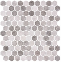Karma Ridge Yoga Serenity Gray Stone Look Hexagon Tile KR1404