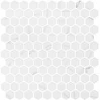 Karma Ridge Endless Calm White Marble Look Hexagon Tile KR1406