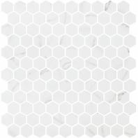 Karma Ridge Endless Calm White Marble Look Hexagon Tile KR1406