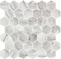 Mayan Garden Aztec Grey Gray Marble Look Hexagon Tile MYN1301