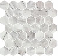 Mayan Garden Aztec Grey Gray Marble Look Hexagon Tile MYN1301