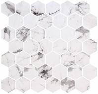 Mayan Garden Tulum Heights White Marble Look Hexagon Tile MYN1302