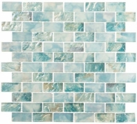 Mykonos Harbor Beach Day Blue Interlocking Tile MKH1602