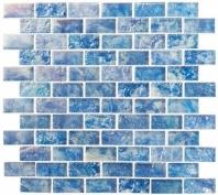 Mykonos Harbor Neon Waters Blue Interlocking Tile MKH1605