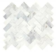 Minute Mosaic Daphne White Herringbone Mosaic Tile