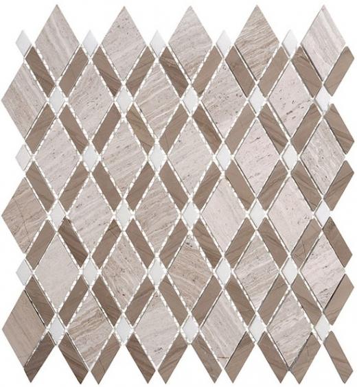 Glazzio Diamond Series Wooden White + Athen Gray + Thassos White DS55