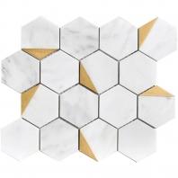 "Natural Bianco Orion 3"" Hexagon"