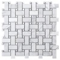 Link Carrara Basketweave Marble Mosaic Tile JWHCA1