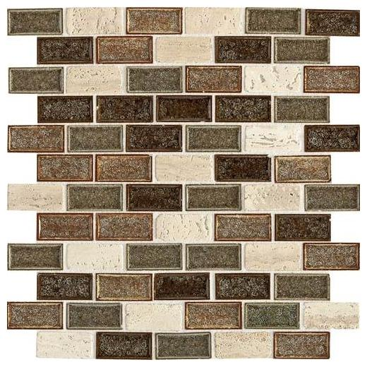 Aura Tile Autumn Haze 1x2 Brick-Joint AU33
