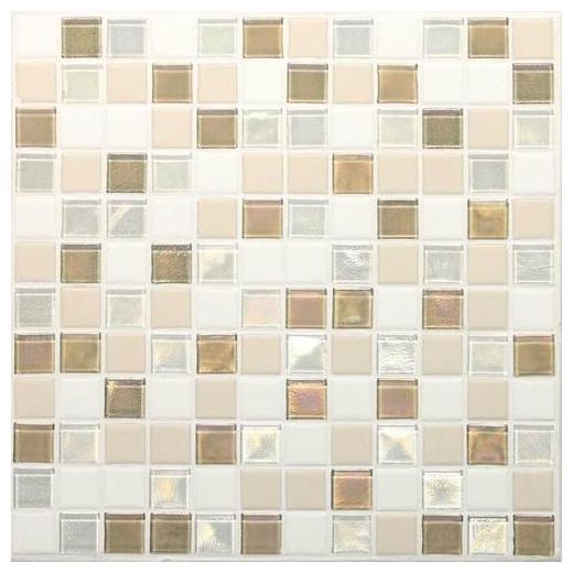 Coastal Keystones Tile Coconut Beach Blend 1x1 Mosaic CK85
