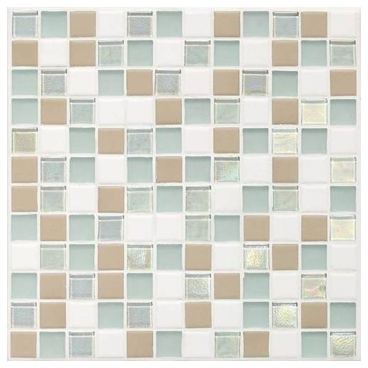 Coastal Keystones Tile Trade Wind Blend 1x1 Mosaic CK86