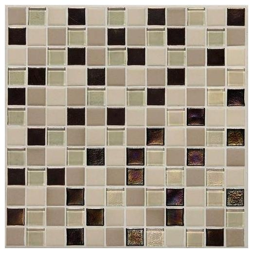 Coastal Keystones Tile Sunset Cove Blend 1x1 Mosaic CK89