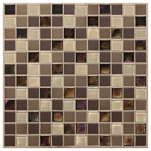 Coastal Keystones Tile Treasure Island Blend 1x1 Mosaic CK90