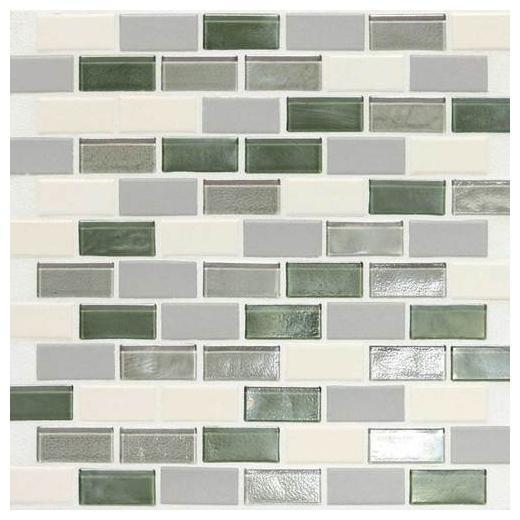 """Coastal Keystones Tile Caribbean Palm 2"""" x 1"""" Brick-Joint CK87"""
