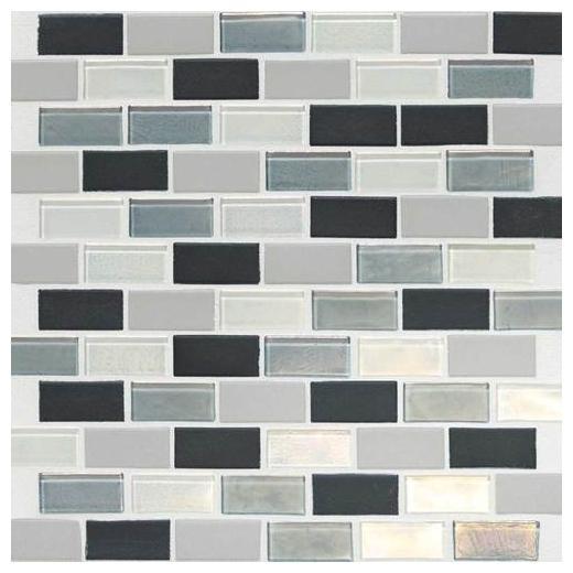 """Coastal Keystones Tile Tropical Thunder 2"""" x 1"""" Brick-Joint CK88"""