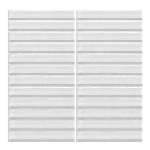 Color Wave Tile Ice White 1 x 6 Straight-Joint CW01