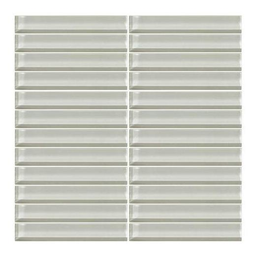 Color Wave Tile Feather White 1 x 6 Straight-Joint CW02