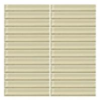 Color Wave Tile Whipped Cream 1 x 6 Straight-Joint CW05