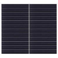 Color Wave Tile Midnight Black 1 x 6 Straight-Joint CW20
