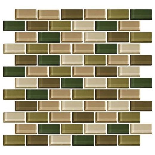 Color Wave Tile Rain Forest 2 x 1 Brick-Joint CW25