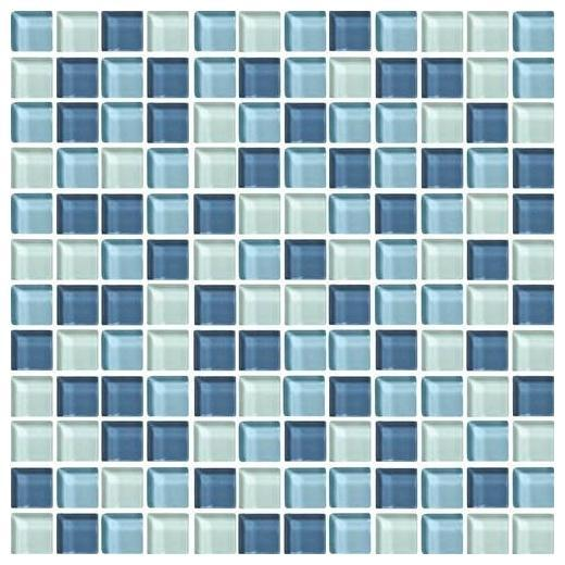 Color Wave Tile Winter Blues 1 x 1 Random Mosaic CW27