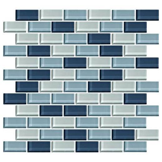 Color Wave Tile Winter Blues 2 x 1 Brick-Joint CW27