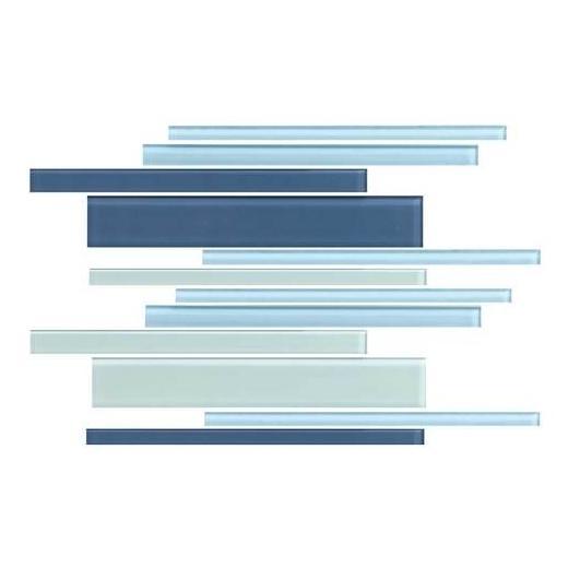 Color Wave Tile Winter Blues Random Interlocking Accent CW27