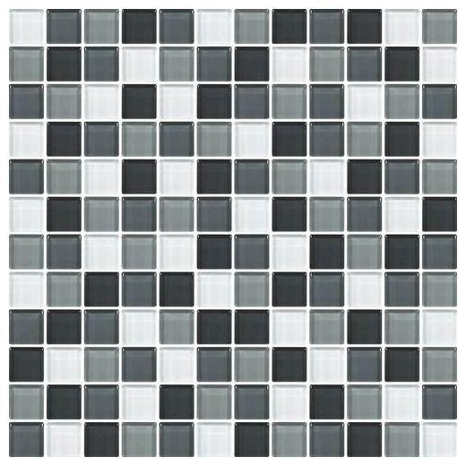 Color Wave Tile Evening Mixer 1 x 1 Random Mosaic CW28