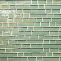 Glass Horizons Tile Sea Glass Random Linear Mosaic GH02