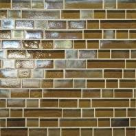 Glass Horizons Tile Driftwood Random Linear Mosaic GH06