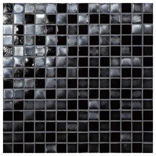 Daltile Glass Horizons Tile Black Sand Mosaic GH09