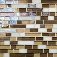 Glass Horizons Tile Mediterranean Blend Random Linear Mosaic GH12