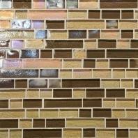 Glass Horizons Tile Caspian Blend Random Linear Mosaic GH13